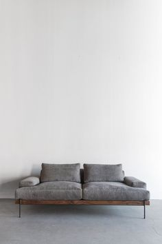 "84""W + 41""D + 31""H INDUSTRIAL STEEL + DOWN + LEATHERCOTTON BLEND + ALDER + WALNUT POLY FINISH //CUSTOMIZE THIS PIECE This Sofa is Custom Made in Los Angeles."