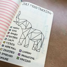 "@poppyandpomegranate on Instagram: ""The #moodmandala was amazing but did not really work for me in the past but I am PUMPED for this elephant #moodtracker in July! I'm curious…"""