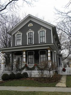 Dark Gray Victorian House by hannibal1107, via Flickr