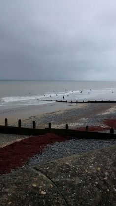 Surfers on the beach, Cromer.