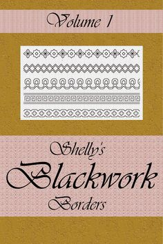 *****Special Offer For My Pinterest Pals*****Have a look at my E-Book SHELLY'S BLACKWORK BORDERS VOL. 1 (PDF Version).  It contains 30 Blackwork Border designs.I sell this E-Books for 9.99  on AmazonSHELLY'S BLACKWORK BORDERS VOL. 1 (PDF Version) - A$4.99That's a saving of $5.00I have 3 Format Versions - PDF - ePub - PDFPlease check which format your reader uses before you purchase! http://www.spanishblackwork.com.au/shellys_blackwork_borders_vol_1.html
