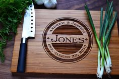 Personalized Cutting Board Engraved Bamboo by Twistedbranchdesigns, $39.00