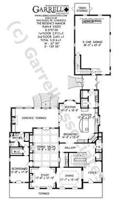 Regency Manor House Plan 05203, 1st Floor Plan, Luxury House Plans, European Manor Style House Plans