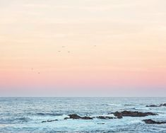 Simple Dreams - Pastel Sunrise Beach Photo - Beach Decor for your Modern Farmhouse - Simple Sunrise Beach Photo - Beach Decor Coastal Colors, Coastal Art, Coastal Homes, Bright Colors, Coastal Farmhouse, Modern Farmhouse, Farmhouse Decor, Nautical Prints, California Coast