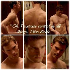 Control in all things. Jamie Dornan Fifty shades of grey movie