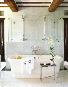 tub and double shower!