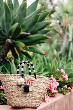 VivaLuxury - Fashion Blog by Annabelle Fleur: ESCAPE TO RANCHO VALENCIA - MARCH11 Maxi dress with Poppy flower embroidery | KAYU St Tropez tote bag | AQUAZZURA Pompom sandals