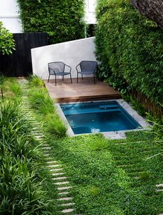 outdoor oasis on a budget ; outdoor oasis backyard with pool ; outdoor oasis backyard on a budget ; outdoor oasis on a budget diy ideas ; Small Inground Pool, Small Swimming Pools, Small Backyard Pools, Small Pools, Swimming Pools Backyard, Garden Pool, Backyard Landscaping, Small Garden Jacuzzi, Oasis Backyard
