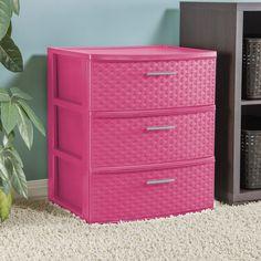 Dresser Drawer Organization, Drawer Storage Unit, Drawer Organisers, Dresser Drawers, Storage Organization, Craft Storage, Dressers, Storage Baskets, Plastic Drawer Makeover