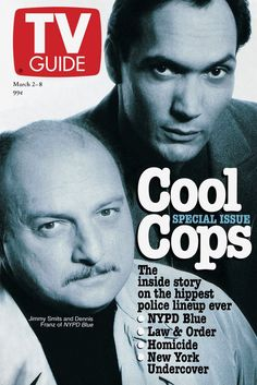 March 2 1996, featuring Dennis Franz and Jimmy Smits of NYPD Blue.