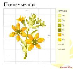 """Дизайн: Вероник Ажинер Источник: книга """"Садовые цветы, вышитые крестом"""" схема:"""