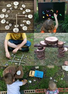 Outdoor Games, Crafts & Nature Activities for Kids Nature Play for the Backyard — lots of great ideas for outdoor activities! Forest School Activities, Outside Activities, Nature Activities, Outdoor Activities For Kids, Outdoor Learning, Outdoor Games, Crafts For Kids, Outdoor Crafts, Backyard Games