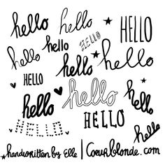 I Just Love The Handwriting Style Of Coeurblonde Take A Look At Their Lovely Site Hello
