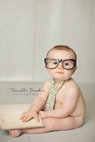 Be Inspired: Books » Confessions of a Prop Junkie Wish I had a baby to do this with! I have the tie AND old glasses (Props to you Papaw)