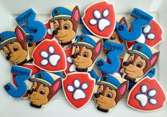 Paw Patrol cookies two dozen by LuxeCookie on Etsy
