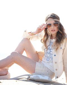 Pavement Brands #gumclothing #denim #ecru #short #denimjacket #top #beach #SS15 #sunglasses #lacebag