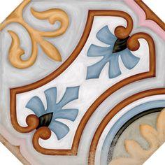 VODEVIL: Octógono Diglas Multicolor - 20x20cm.   Pavimento - Porcelánico   VIVES Azulejos y Gres S.A.