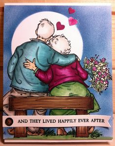 They lived happily ever after. That's our goal, forty years and counting. Printable Anniversary Cards, Happy Anniversary Wishes, Wedding Anniversary Cards, Anniversary Quotes, Mo Manning, Growing Old Together, Old Couples, Art Impressions, Love My Husband