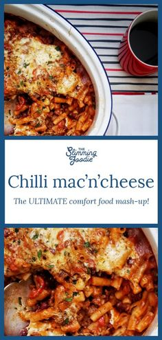 One-pot chilli mac'n'cheese This one-pot wonder is comfort food at it's best- Chilli mac'n'cheese! It's syn free on Slimming World using your Healthy Extra A of cheese. This is a mash-up of chilli con carne and macaroni cheese Slimming World Chilli, Slimming World Healthy Extras, Slimming World Vegetarian Recipes, Slimming World Pasta, Slimming World Free, Slimming World Dinners, Slimming Eats, Healthy Recipes, Slimming Recipes