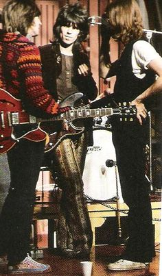Eric Clapton, Keith Richards, John Lennon. Rock'n Roll Circus. 1968.