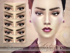 The Sims Resource: Thick Eyebrows by PralineSims • Sims 4 Downloads