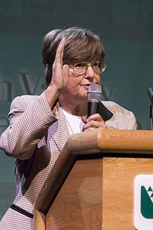 """Helen Prejean  Roman Catholic Nun and leading advocate for the abolition of the death penalty.  She is the author of the bestseller """"Dead Man Walking"""" (which was made into a movie staring Susan Sarandon and Sean Penn).  Israel and I were fortunate to spend some time with Helen in 1998 when she first spoke in Oklahoma. She's an amazing person."""