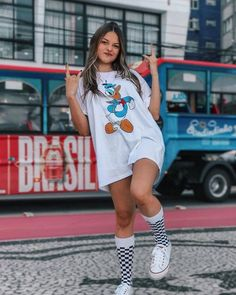 Cute Comfy Outfits, Trendy Outfits, Cool Outfits, Summer Outfits, Girls Fashion Clothes, Girl Fashion, Fashion Outfits, Look Skater, Jugend Mode Outfits