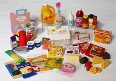 """Re-Ment """"Akogare Import Store"""" Barbie Sets, Barbie Dolls Diy, Barbie Food, Doll Food, Little Girl Toys, Toys For Girls, Miniature Crafts, Miniature Food, Accessoires Lps"""