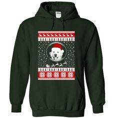Santa Great Pyrenees T-Shirts, Hoodies. BUY IT NOW ==► https://www.sunfrog.com/Christmas/Santa-Great-Pyrenees-1631-Forest-Hoodie.html?id=41382