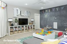 nice 48 Clever And Creative Playroom Decor Ideas. More at https://homessive.co/2017/05/03/48-clever-and-creative-playroom-decor-ideas/