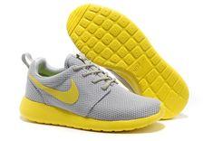 huge discount bab1f 72235 Nuevos Nike Roshe One Gris Claro Amarillo Correr Zapatos Se Presenten con Roshe  Nike Zapatos en Nuestra Tienda