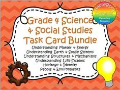 Ontario Grade 3 Social Studies and Science Task Card Bundle Social Studies Resources, Science Resources, Science Education, Elementary Education, Teacher Resources, Teaching Ideas, Social Stories, Science Lessons, Activities