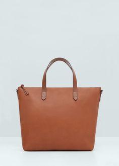 Shopper-tasche aus kunstleder | MANGO