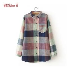 Cheap blouse fashion, Buy Quality blouses plus directly from China fashion blouses Suppliers: dower me Plus Size 4XL Autumn Blouse Women Plaid Cotton Vintage Blouses Turn Down Collar Shirts Ladies Tops Fashion Clothing