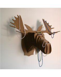 Recycled Cardboard Fred Jr. Moose Head Trophy
