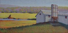 """""""Big Dutchman"""" by Jane Carr in egg tempera on Clapboard"""