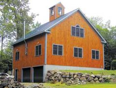 I've always wanted a bank barn. Under the bank would be the barn/stalls facing out from the bank and above it would be the living area--that way you can still have a front door to your house with a sidewalk leading to it!