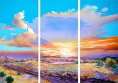 sunset large paintng