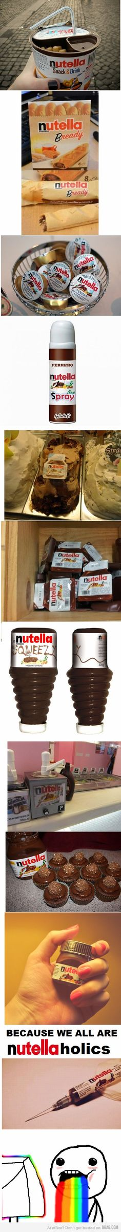 Because we're all Nutellaholics... PS. Why don't they sell any of this in the US!? D: