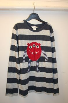 Applique red monster T-shirt