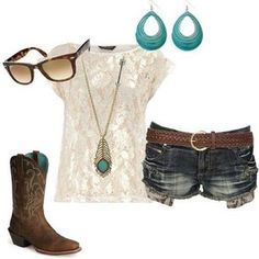 Image detail for -boots #cowboy #cowgirl #feather #tshirt #short #outfit #outfits ...