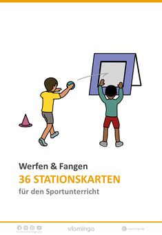 Throwing & Catching - 36 stations for physical education at . Informations About Werfen & Fangen - Education Major, Primary Education, Elementary Education, Primary School, Physical Education, Love Handle Workout, Vs Sport, Love Handles, Sport Motivation