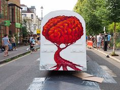 Top graffiti artists show off their work at the Urban Art Fair, Brixton, Sunday 14th July 2013