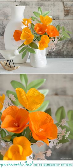 Único e Criativo Crepe Paper Poppy Flower - Lia Griffith DIY Crepe Paper Poppy Flower - www. Paper Flowers Craft, Crepe Paper Flowers, Flower Crafts, Fabric Flowers, Fake Flowers, Diy Flowers, Poppy Flowers, Flower Head Wreaths, Paper Plants