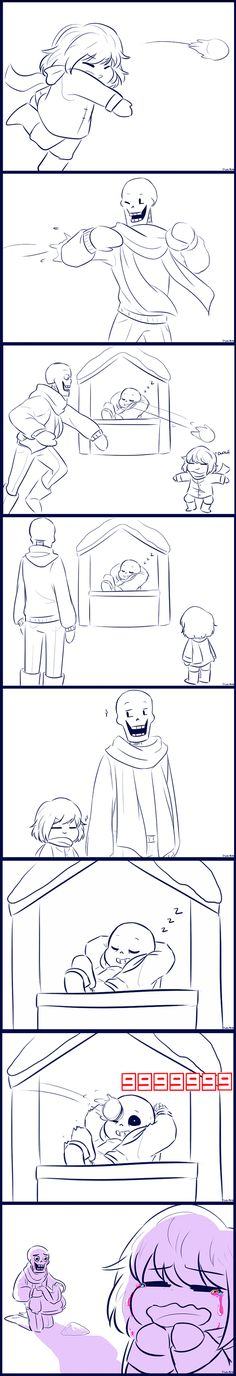 Snowball by chaoticshero on DeviantArt ^^ Eeeep... He's got ONE HP, YOU TWO!!! Also. The funnies part for me was one of the comments: Sans: Heheh! How'd you guys like my Snow-Sans? Pretty neat huh?.....Guys? Papyrus and Frisk: WAHHHHHHHHHHHHHHH!!!!! ;n; Sans: Guys, it's okay! I'm not dead, alright! I'm right here-OH CRAP NOT AGAIN!!!! FRISK DON'T YOU DARE PRESS THAT RESET BUTTON- (One reset later) Sans:.....Note to self. Stop traumatizing the kid that can reset everything.