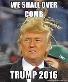 Donald Trump - we shall over comb