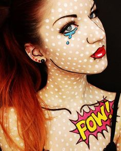 1000 id es sur le th me comic makeup sur pinterest for Comidee maquillage halloween adulte