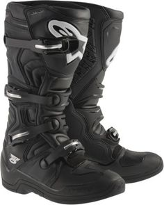 Mens Thor Black Blitz LS Leather Motorcycle Riding Off Road Racing Boots