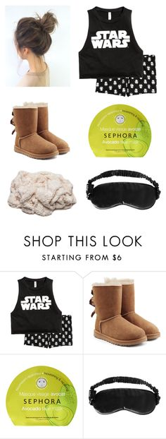 """Nightime"" by queenprincessliarra ❤ liked on Polyvore featuring UGG, Sephora Collection and Slip"