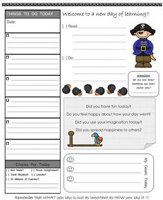 Daily Multi-Subject Lesson Plan Template with Time